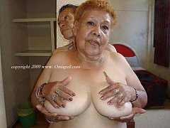 Old grannies posing nude