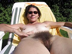 Granny Shows Off Her Hairy Pussy
