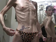 Skinny beautie with hot, anorexic looking dreambody