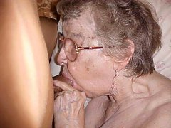 Amazing granny amateur in action with old lady